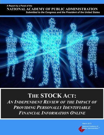THE STOCK ACT: - National Academy of Public Administration