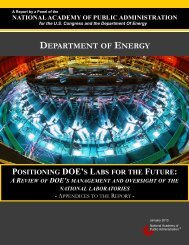 Positioning DOE's Labs for the Future - National Academy of Public ...