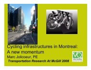 Cycling infrastructures in Montreal - Transportation Research At ...