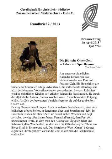 Rundbrief 2-13 - Gesellschaft für christlich-jüdische ...