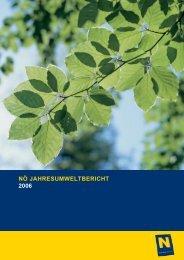 nö jahresumweltbericht 2006 - Niederösterreichischer Landtag