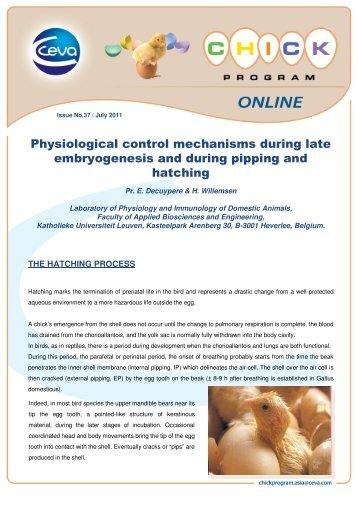 Physiological control mechanisms during late ... - The Poultry Site