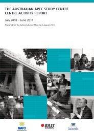 2011 - Australian APEC Study Centre