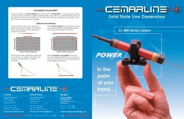 CL 800 Laser Series - Cemar Electro Inc.
