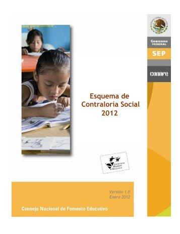 Esquema de Operación 2012 - Conafe