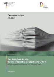 Der Bergbau in der Bundesrepublik Deutschland 2009 - LBGR