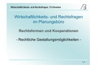 Wirtschaftlichkeits- und Rechtsfragen, TU Dresden - Prof-rauch-tu ...