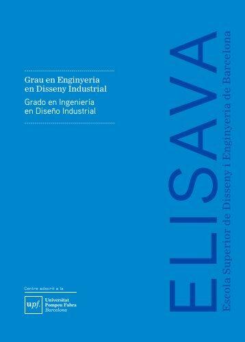 Catàleg Grau en Enginyeria de Disseny Industrial (PDF ... - ELISAVA