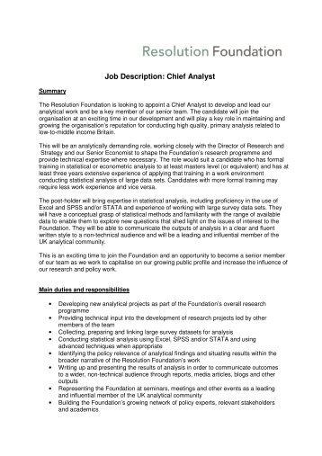 Research Analyst Labour Market Studies Job Description    Mihr