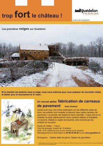 """Trop fort le château !"" N°18 (PDF - 444 Ko) - Guédelon"