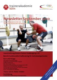 Newsletter September 2010 - Frontcourt