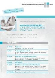 KnieGeLenKeRSATZ – - Verbund Katholischer Kliniken Düsseldorf