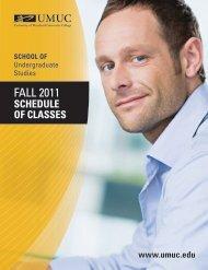 FALL 2011 - UMUC - University of Maryland University College
