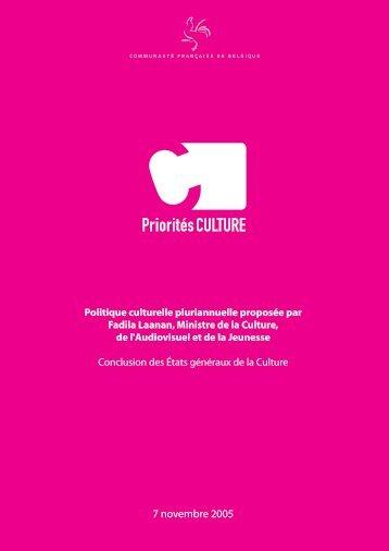 7 novembre 2005 - Culture.be