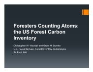 Foresters Counting Atoms: the US Forest Carbon Inventory