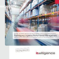 Fachtagung Logistics Performance Management - Itelligence AG