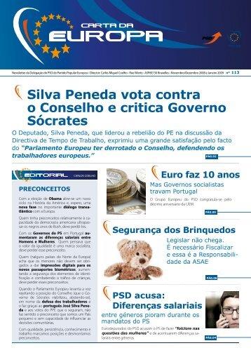 silva Peneda vota contra o conselho e critica ... - Carlos Coelho