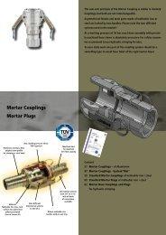 Mortar Couplings Mortar Plugs