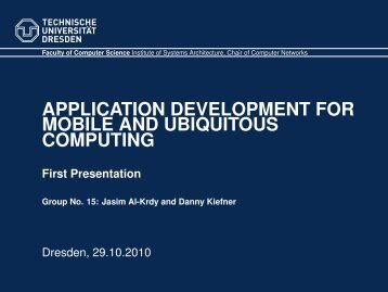 First Presentation - Faculty of Computer Science