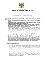 reptile application - Ministry of Environment and Tourism