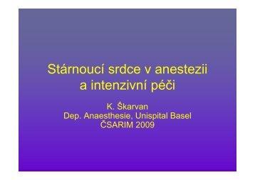 stárnoucí srdce v anestezi a intenzivní péči