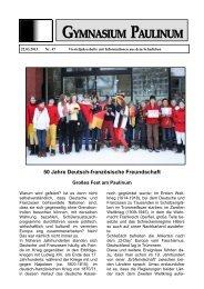 Paulinum-Info 47 - Gymnasium Paulinum