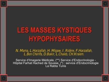 LES MASSES KYSTIQUES HYPOPHYSAIRES