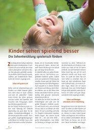 Kinder sehen spielend besser - Institut für Sehen und Wissen, Judith ...