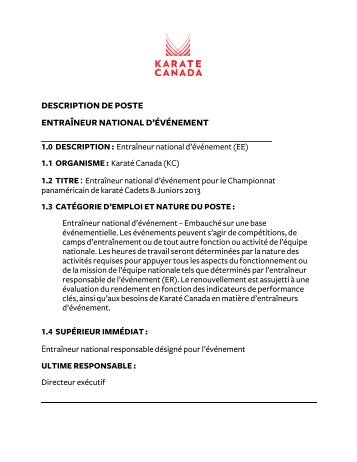 Veuillez cliquer ici afin de consulter la description ... - Karate Canada