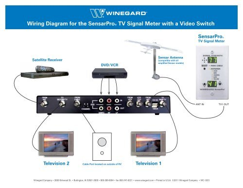 Wiring Diagram For The SensarproÃ\u201a® Tv Signal Meter With Winegard Winegard Wiring Diagrams