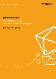 History Matters: Path dependence and innovation in British city ...