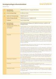 Vermögensanlagen-Informationsblatt - shedlin