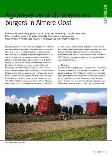 Agromere verbindt boeren en burgers in Almere ... - Transitiepraktijk