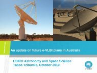 An update on future e-‐VLBI plans in Australia - CIRA