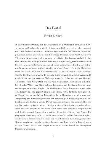 Das Portal, von Frieder Knüppel - Ferienhaus Ostholstein Eutin