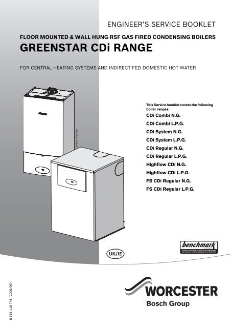 Greenstar Cdi Service Booklet For Engineers Worcester Bosch