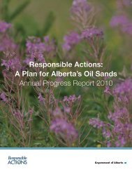 Responsible Actions: A Plan for Alberta's Oil Sands ... - Alberta Energy
