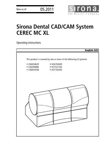 Cerec inlab mc xl dental union Cad system