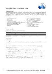 Technisches Datenblatt - Oli Lacke GmbH