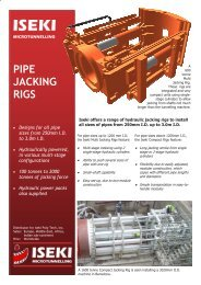 Technical Qualifying criteria for Microtunneling and Pipe