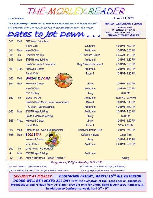 Mini Reader March 13, 2013 pdf - Edward W  Morley Elementary