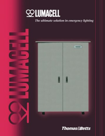 The ultimate solution in emergency lighting - Lumacell