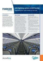 Leaflet LED lighting system A320 - low cost cabin ... - Fokker Services