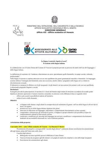 progetto Sessismo nella lingua - Pari Opportunità in Provincia di ...