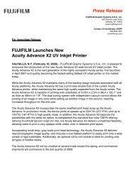 2-09 Fujifilm Launches New Acuity Advance X2 UV Inkjet Printer