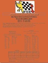 Fédération Genevoise d'échecs 26e Open International d'Échecs 26 ...