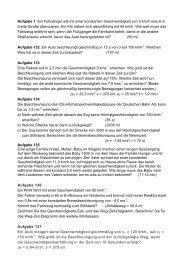 Aufgaben beschleunigte Bewegung - Walko.de