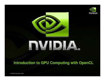 Introduction to GPU Computing with OpenCL