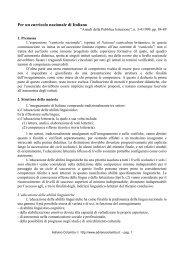Per un curricolo nazionale di Italiano (1999) - Adrianocolombo.it