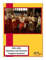 2011-2012 Education and Outreach Program Summary